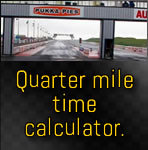 Quarter mile time calculator