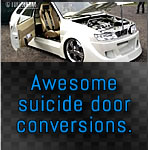 Suicide door conversions